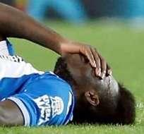 BARCELONA, España.- Caicedo se retiró lesionado antes del final del primer tiempo. Foto: EFE.