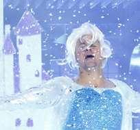 Vestido como Elsa, Tatum sorprendió al público en su participación en LipSync Battle.