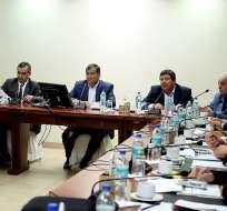 El presidente de la República, Rafael Correa, lidera el primer gabinete sectorial de Seguridad Foto: Presidencia de la República