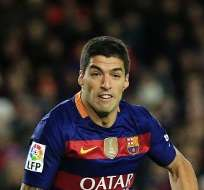BARCELONA, España.- Suárez llamó desechos a jugadores del Espanyol. Foto: AFP.