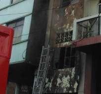 GUAYAQUIL, Ecuador.- A través de su cuenta Twitter, el Cuerpo de Bomberos indicó que el conato fue controlado. Foto: Pablo Segale, bombero voluntario.