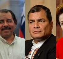Según Cedatos, Correa se ubica en el puesto 9 y Rousseff está al final de la tabla. Foto: Collage