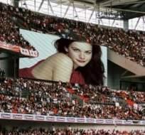 LYON, Francia.- Las pantallas proyectaron imágenes de una película para adultos en lugar de los goles.