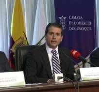 Francisco Alarcón es el nuevo presidente de la Federación de Cámaras de Industriales del Ecuador. Foto Agencia Andes