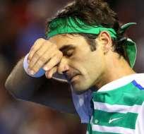 El suizo Roger Federer fue sometido a una artroscopía en su rodilla derecha.
