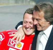 Michael Schumacher (i.) sufrió un accidente mientras esquiaba en diciembre de 2013.