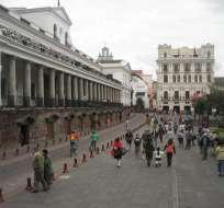 QUITO, Ecuador.- Las protestas fueron convocadas para esta tarde en Quito y se extienden a otras ciudades. Foto: Archivo