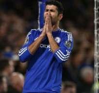 Diego Costa tuvo un choque con un compañero y se rompió la nariz.