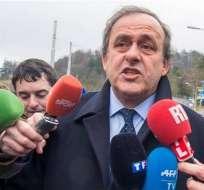 Michel Platini se presentó a la Comisión de Recursos de la FIFA para rendir declaración.
