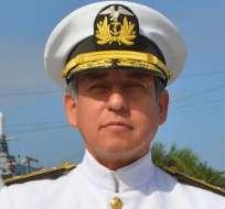 GUAYAQUIL, Ecuador.- El vicealmirante asumió este viernes la Comandancia General de la Fuerza Naval. Foto: Archivo Armada Nacional