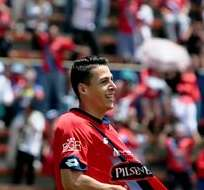 QUITO, Ecuador.- Balda celebra el segundo gol de los 'Puros Criollos'. Foto: API.