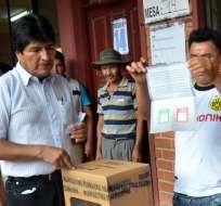 BOLIVIA.- Según un reciente reporte del Tribunal Electoral, el no ganaba con un 62% frente al sí. Foto: AFP