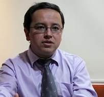 Patricio Rivera, ministro coordinador de la Política Económica. Foto agencia Andes