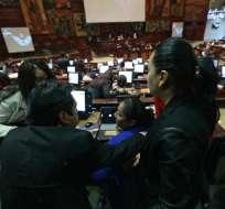 El proyecto de Ley Orgánica para la Optimización de la jornada laboral y seguro de desempleo ingresó a la Asamblea. Foto: API
