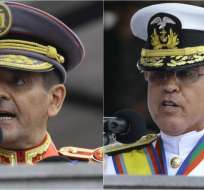 QUITO, Ecuador.- En el cambio de mando de la cúpula militar, los discursos concentraron la polémica. Collage: Ecuavisa / Fotos: API