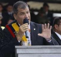 QUITO, Ecuador.- En el cambio de mando, el primer mandatario habló de cambios radicales en las FF.AA. Foto: API
