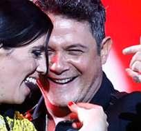 """VIÑA DEL MAR, Chile.- La cantante se excusó por su error y señaló que la canción flamenca de Sanz tiene una síncopa """"muy complicada"""". Foto: EFE."""