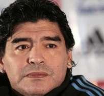 """""""El presidente tiene que ser uno que no busque hacerse millonario a través de la pelota, los sponsors, y de los mundiales"""", dijo Maradona. Foto Referencial."""