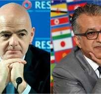 Gianni Infantino y el jeque Salman bin Hamad bin Isa Al Jalifa fueron los candidatos más votados.