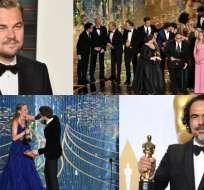 """DiCaprio, Larson, Iñárritu, """"Spotlight"""" y """"Mad Max"""" se consagraron en la premiación."""