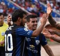 AREQUIPA, Perú.- Sornoza festejando su gol. Foto: AFP.