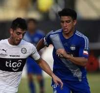 MANTA, Ecuador.- Gaibor lanzó el centro para el primer gol de Giménez. Foto: AFP.