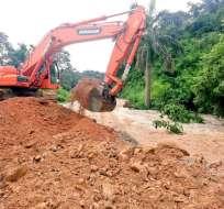 En Taura y Durán algunas comunidades quedaron aisladas tras las inundaciones. Foto: Twitter / Alcaldía de Durán
