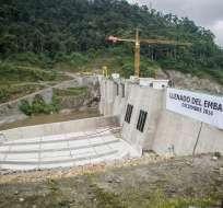 ECUADOR.- Hace una semana, otro juez había dispuesto una investigación en la obra hidroeléctrica. Foto: Ministerio de Energía