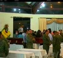 El Ministerio de Defensa tiene previsto trasladar los cuerpos a Quito a partir de las 6h30. Foto: Captura de video