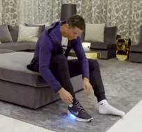 Cristiano Ronaldo fue el escogido para probarse los nuevos calzados de la marca deportiva.