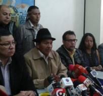 El pasado 14 de marzo Jorge Herrera convocó a movilizarse el 17 de marzo contra reformas laborales. Foto: Conaie