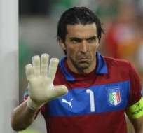 TURÍN, Italia.- Buffon ha defendido el arco de la selección italiana por años. Foto: AFP.