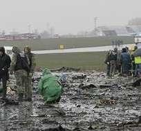El vuelo FZ 981 llevaba 62 personas a bordo, entre ellas cuatro niños y 7 tripulantes, según medios locales. Foto: EFE.