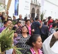 QUITO, Ecuador.- La Semana Santa representa una de las fechas litúrgicas más importantes de todo el año para los católicos y se inicia con la celebración del Domingo de Ramos. Foto: Prensa Quito.