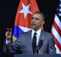"""El embargo es """"una carga obsoleta sobre el pueblo cubano"""", añadió Obama en medio de fuertes aplausos en el Teatro Nacional de La Habana. Foto: AFP"""