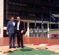 Gianni Infantino sostuvo un encuentro con el presidente de la Conmebol, Alejandro Domínguez.