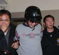 TAIWÁN.- El atacante, de 33 años, fue identificado con el nombre de Wang y es conocido por varios casos de estupefacientes. Foto: AFP