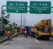 La ATM indicó que el accidente ocurrió por el estrellamiento y volcamiento de la unidad de transporte interprovincial. Foto: ATM