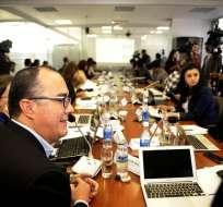 QUITO, Ecuador.- Representantes del sector de la producción, de la construcción y de los empresarios participaron en el tercer día de comparecencias por las reformas tributarias. Foto: API