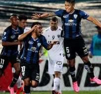 SANGOLQUÍ, Ecuador.- Junior Sornoza festejando uno de sus goles. Foto: EFE.