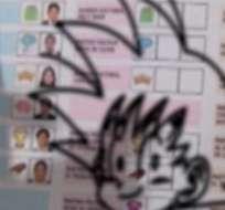 LIMA, Perú.- Muchos votantes subieron a redes sociales capturas de sus votos viciados. La Policía peruana expresó su descontento. Foto: El Comercio.pe.