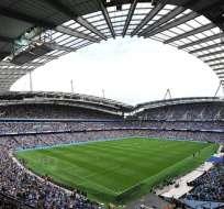 MANCHESTER, Inglaterra.- El Etihad Stadium acoge la semifinal de la Liga de Campeones.