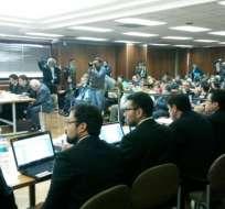 QUITO, Ecuador.- En total, 13 personas fueron procesadas. Para las 10 restantes hay medidas sustitutivas. Foto: Fiscalía del Estado