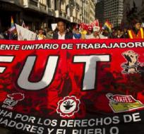 Representantes del sindicato rechazan proyecto de Ley Solidaria enviado a la Asamblea. Foto: www.ubicatv.com