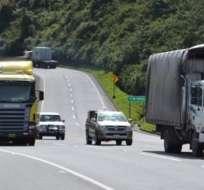 Se recomienda tener precaución, ya que ciertos tramos estarán restringidos. Foto: Referencial / El ciudadano
