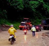 Según el sistema ECU 911 Quito, la ruta se habilitó para todo tipo de vehículos. Foto: @Gadtsachilas