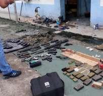 Parte de lo incautado por el comando operacional marítimo de las Fuerzas Armadas. Foto: Cortesía