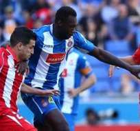 Felipe Caicedo le dio tres puntos a su equipo sobre el Sevilla para mantener opciones de permanecer en primera categoría.