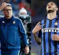 Gerardo Martino y Mauro Icardi protagonizan una polémica en Argentina por su no convocatoria a la selección.