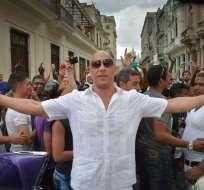 Vin Diesel posa en La Habana, Cuba. Foto: Archivo de AFP